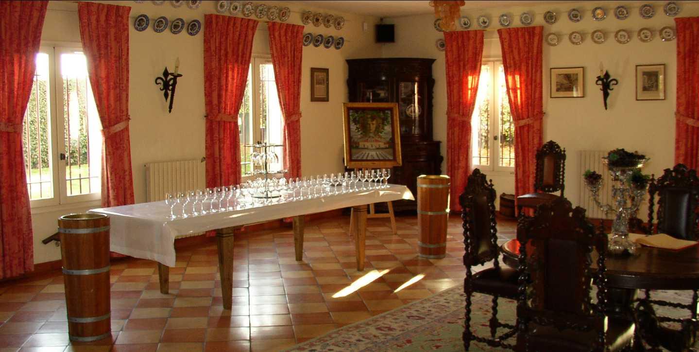 Château Siran salle de dégustation