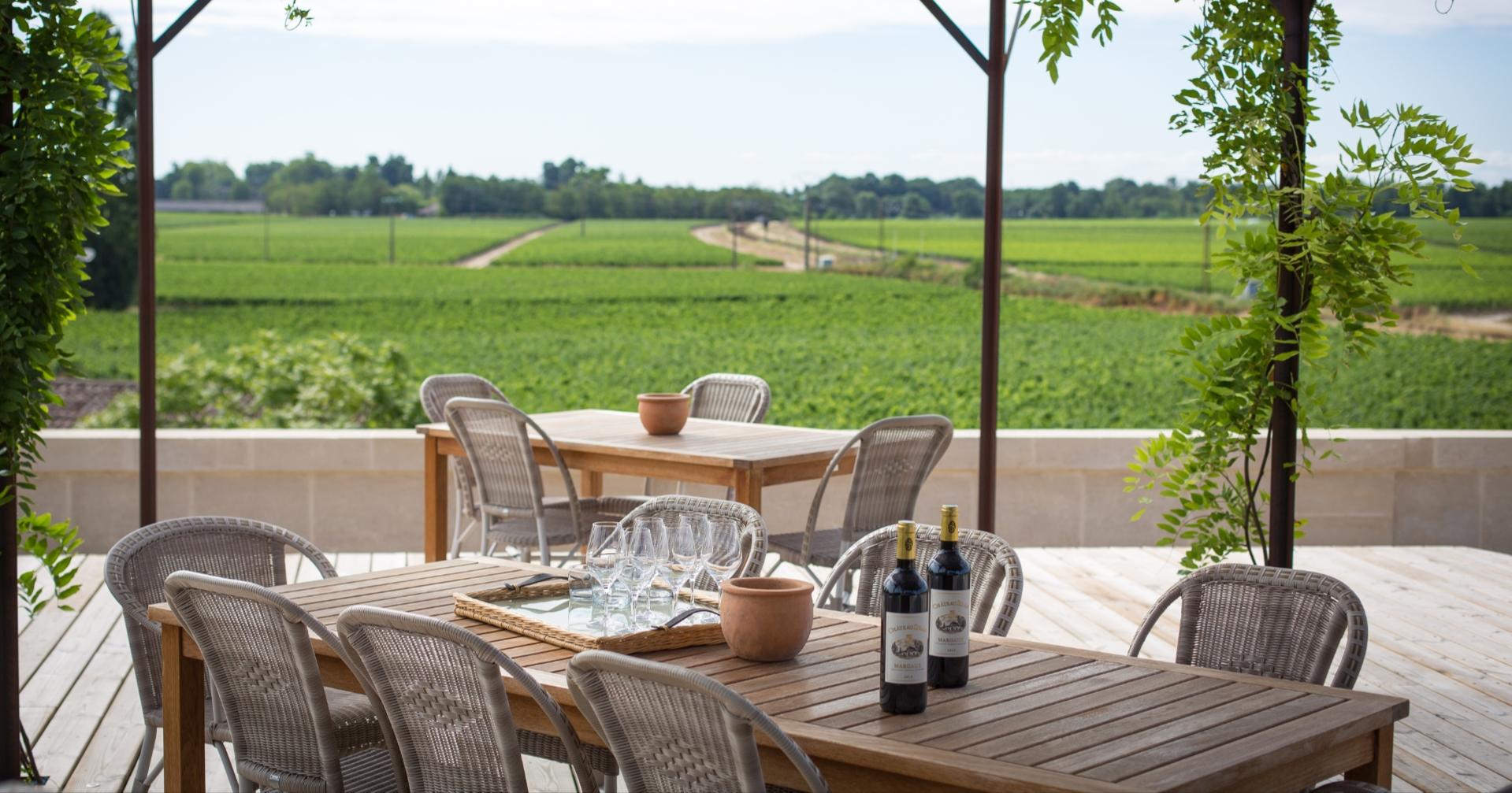 Château Siran terrasse vignoble