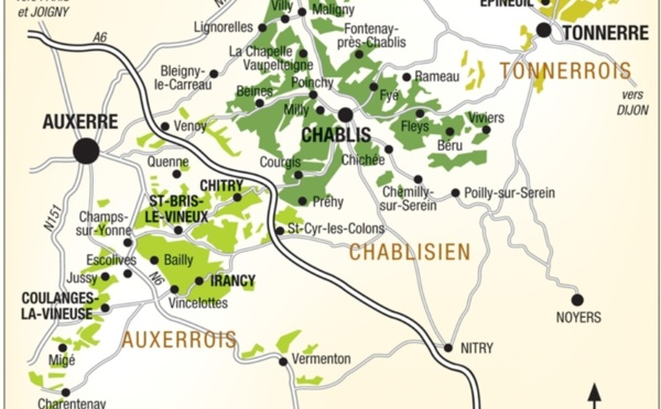 Bourgogne vins blancs: Chablis